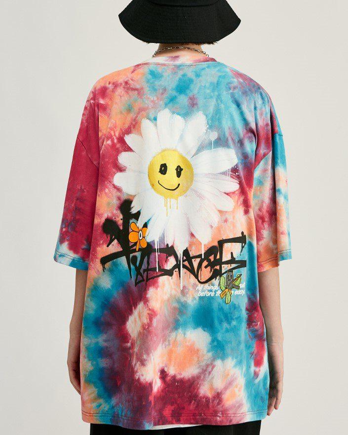 《2色》デイジースマイルタイダイTシャツの画像2